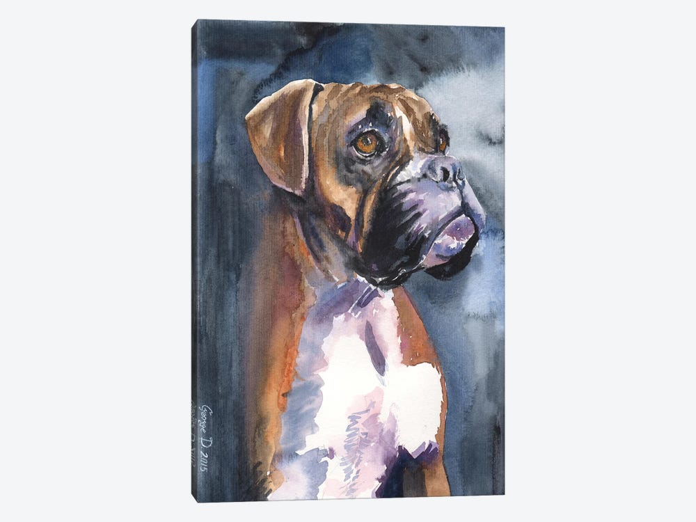 Boxer In The Mist by George Dyachenko 1-piece Canvas Wall Art
