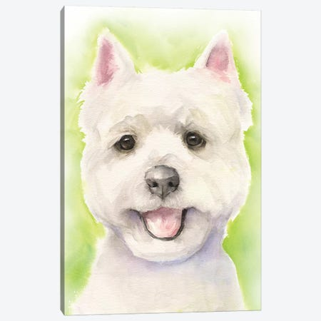 Westie Canvas Print #GDY238} by George Dyachenko Canvas Print