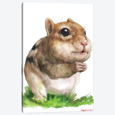 Chipmunk Canvas Print #GDY248} by George Dyachenko Canvas Art