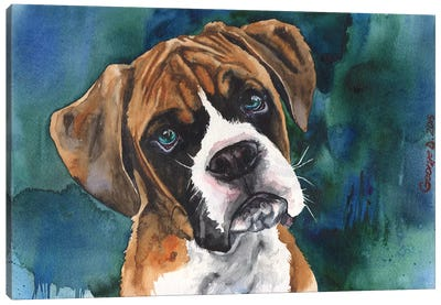 Boxer Puppy Canvas Art Print