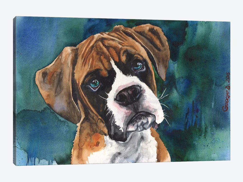 Boxer Puppy by George Dyachenko 1-piece Canvas Wall Art