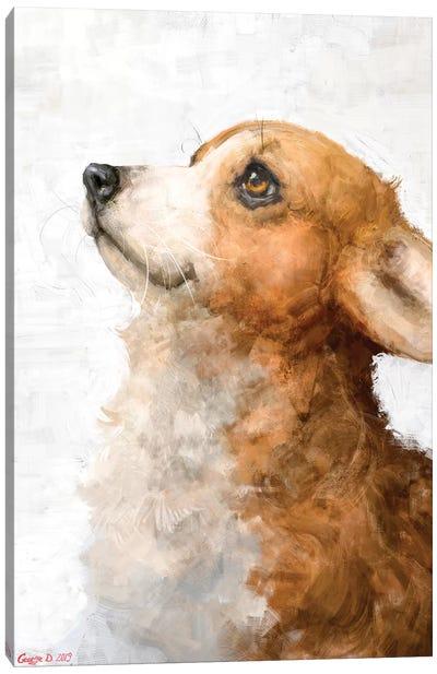 Corgi Puppy Canvas Art Print
