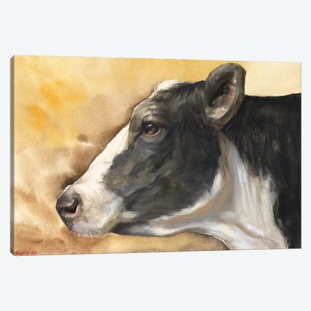 Cow With Background Canvas Print #GDY251} by George Dyachenko Canvas Art Print
