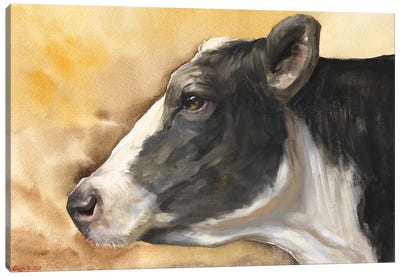 Cow With Background Canvas Art Print