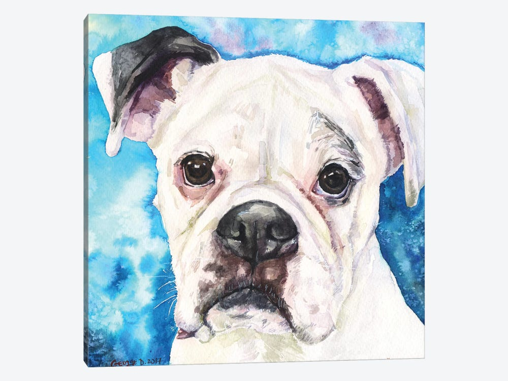 White Boxer II by George Dyachenko 1-piece Canvas Art Print