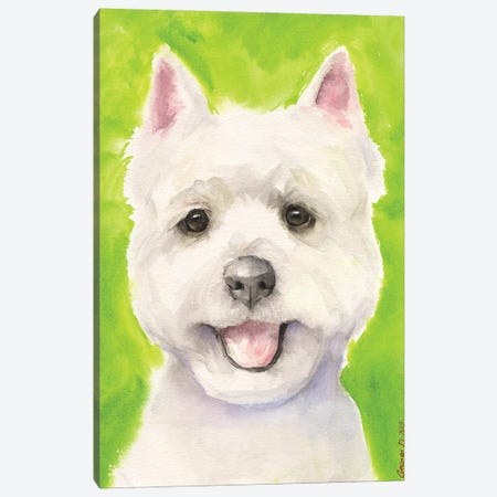 Westie With Background Canvas Print #GDY261} by George Dyachenko Canvas Art