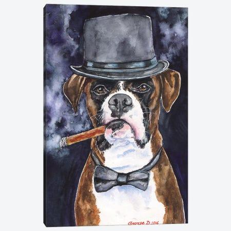 Brutal Boxer Canvas Print #GDY26} by George Dyachenko Canvas Art