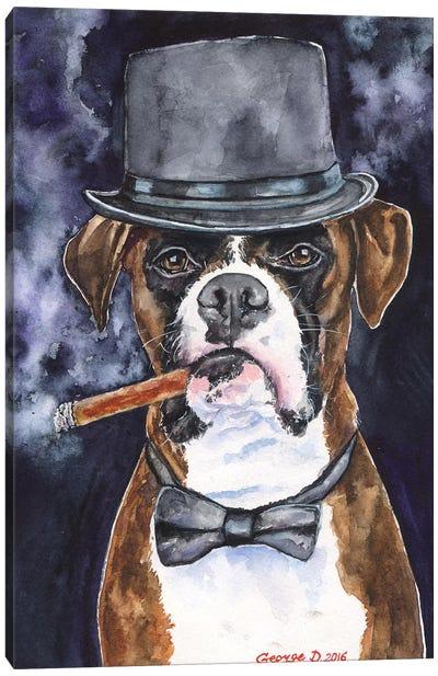 Brutal Boxer Canvas Art Print