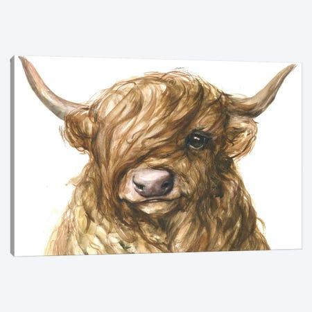 Highland Cow Canvas Print #GDY270} by George Dyachenko Art Print