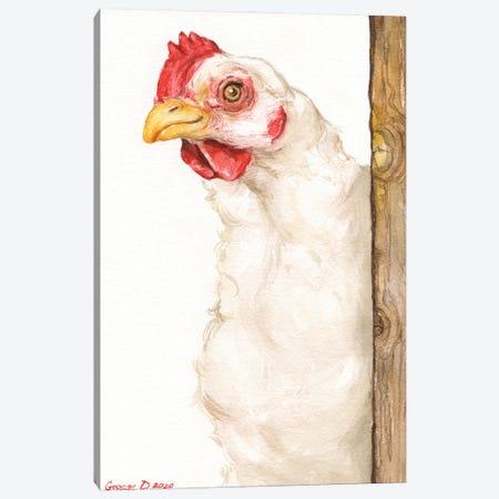 Chicken II Canvas Print #GDY272} by George Dyachenko Canvas Print