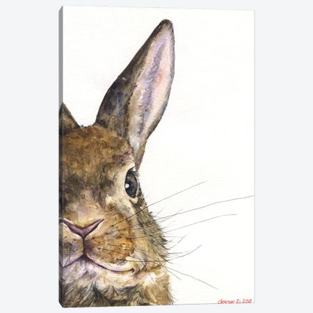Bunny Canvas Print #GDY276} by George Dyachenko Canvas Art