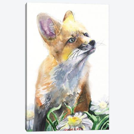 Fox Canvas Print #GDY278} by George Dyachenko Art Print
