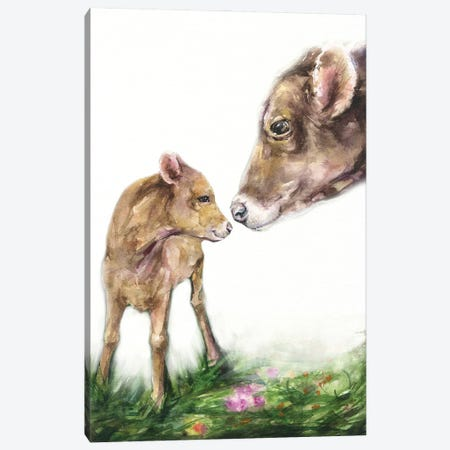 Mother Cow Canvas Print #GDY285} by George Dyachenko Canvas Print