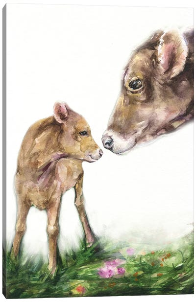 Mother Cow Canvas Art Print