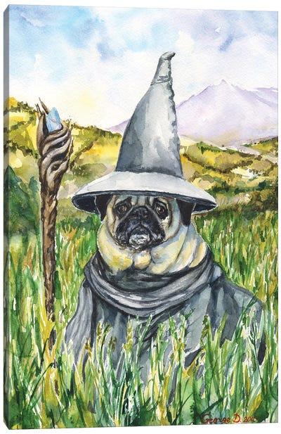 Pug Gandalf Canvas Art Print