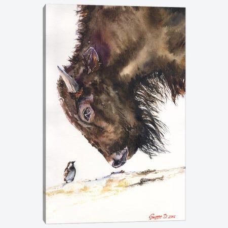Buffalo And Sparrow Canvas Print #GDY28} by George Dyachenko Canvas Print