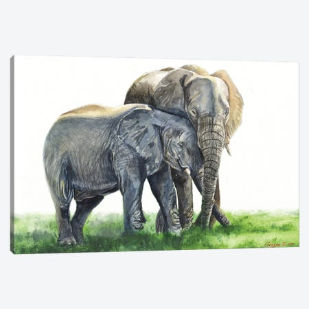 Together forever Canvas Print #GDY290} by George Dyachenko Art Print