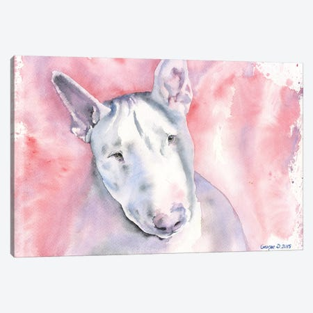 Bull Terrier Canvas Print #GDY29} by George Dyachenko Art Print