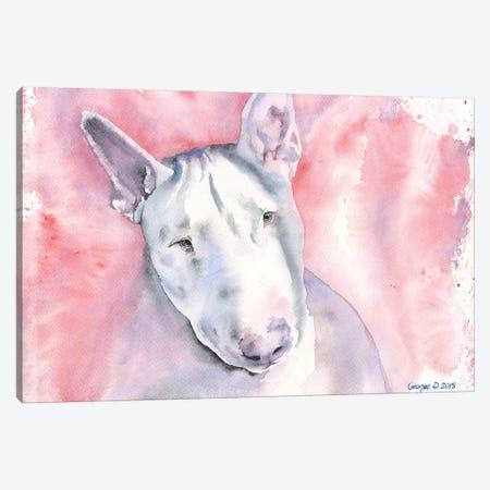 Bull Terrier Canvas Print #GDY29} by George Dyachenko Art Print