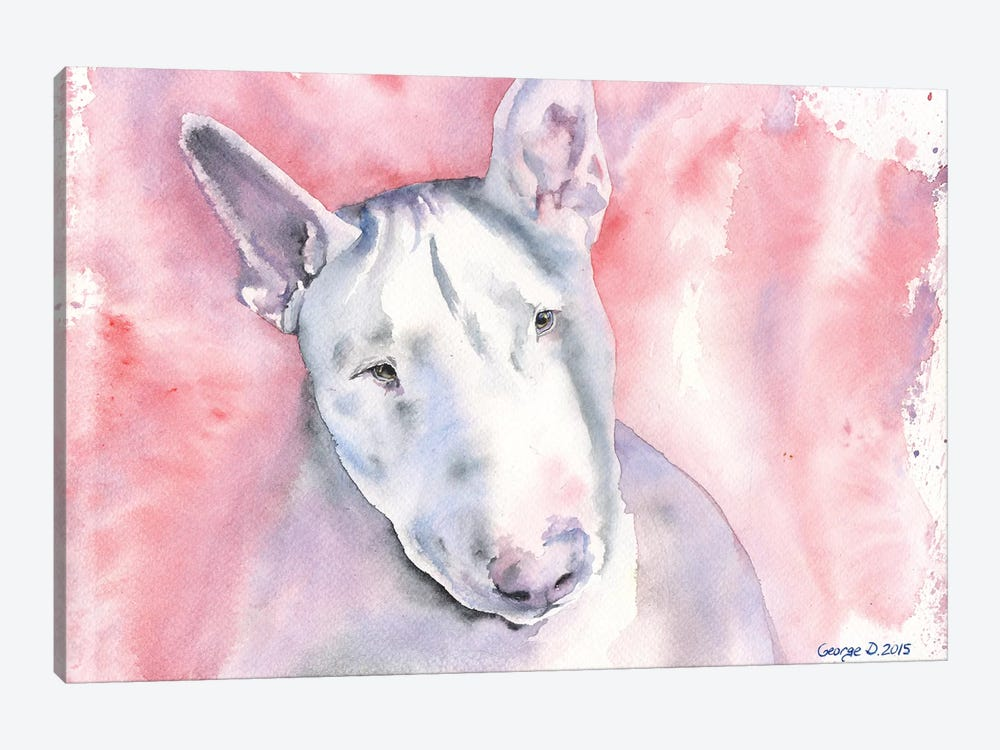 Bull Terrier by George Dyachenko 1-piece Canvas Art Print