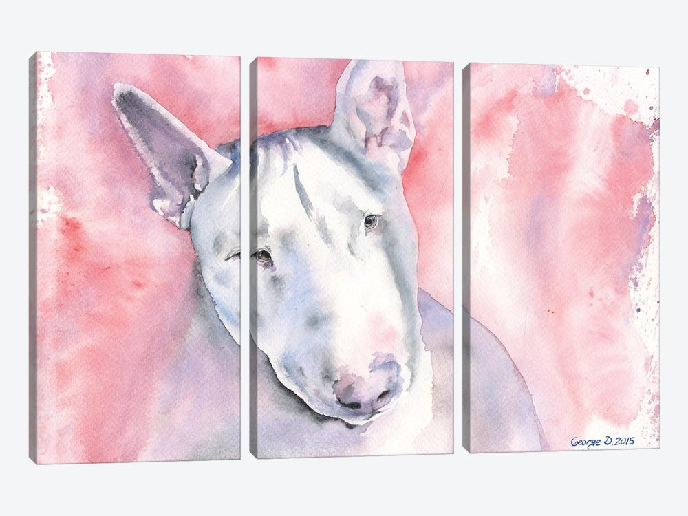 Bull Terrier by George Dyachenko 3-piece Art Print