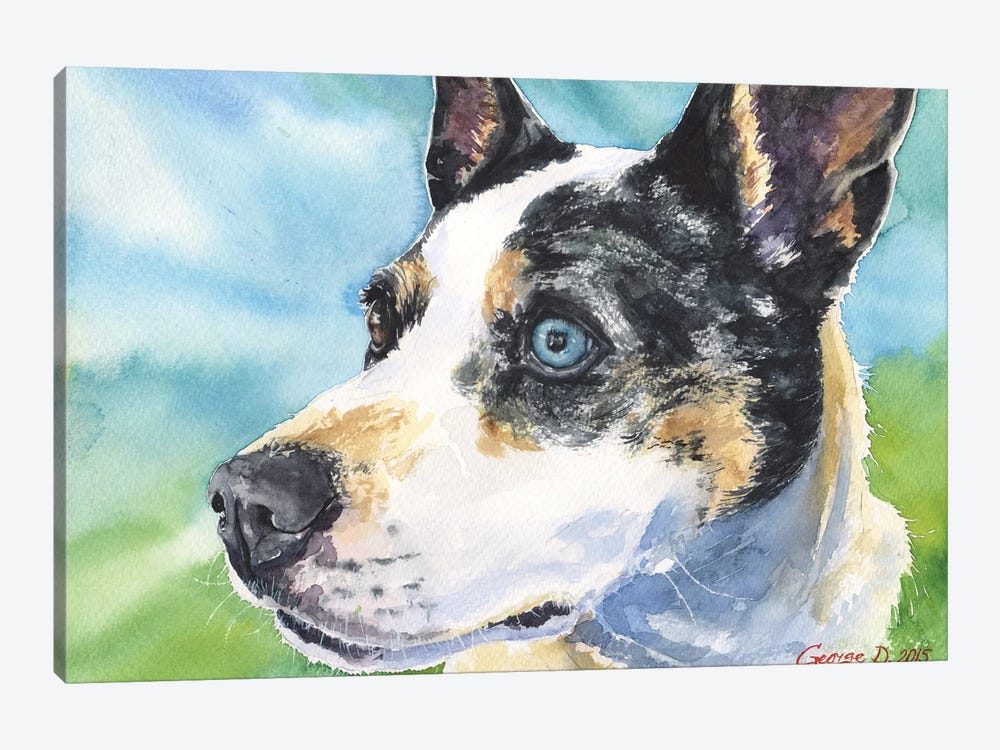 Australian Cattle Dog 1-piece Canvas Print