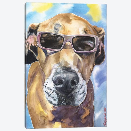 Cool Great Dane Canvas Print #GDY41} by George Dyachenko Art Print