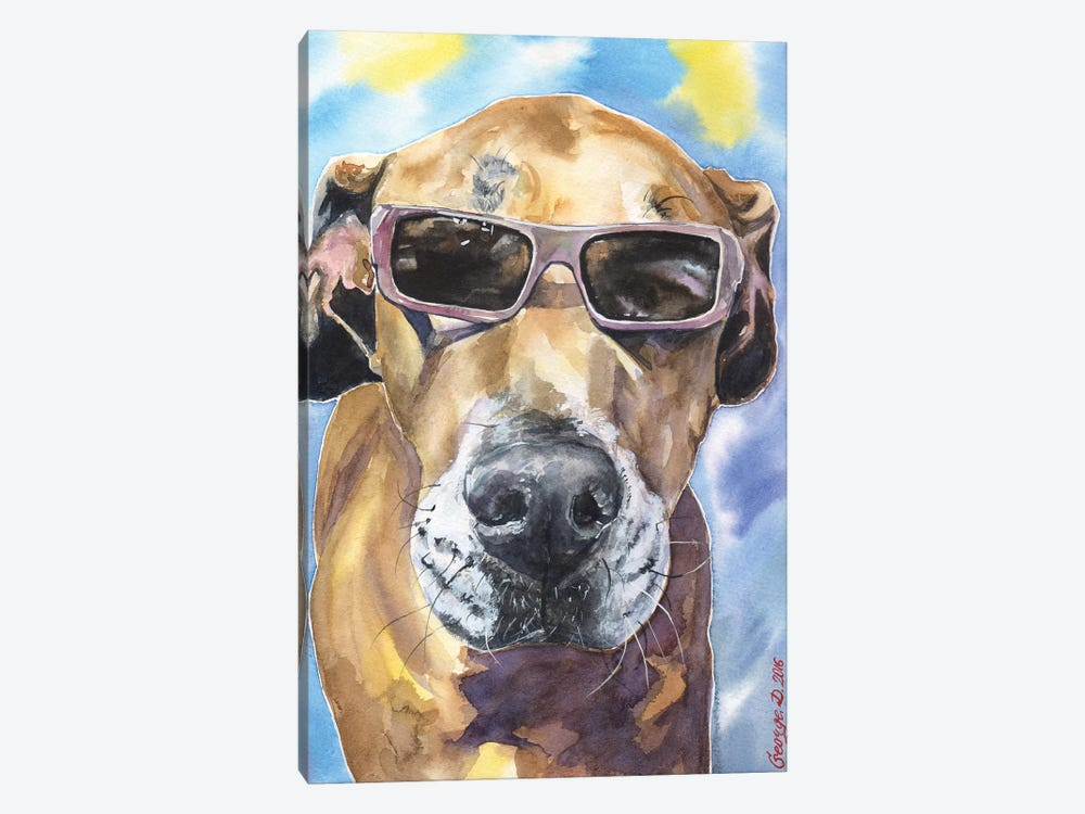 Cool Great Dane by George Dyachenko 1-piece Canvas Art Print