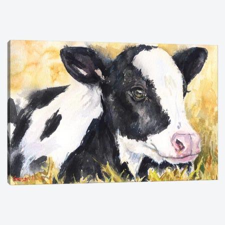 Cow Baby Canvas Print #GDY43} by George Dyachenko Canvas Art Print