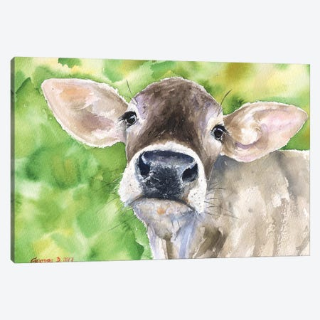 Cow In Nature Canvas Print #GDY44} by George Dyachenko Canvas Art