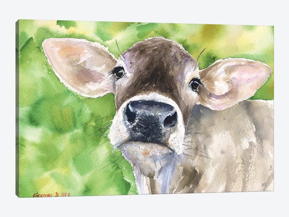 Cow In Nature 1-piece Canvas Art