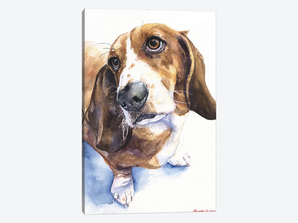 Basset II by George Dyachenko 1-piece Art Print