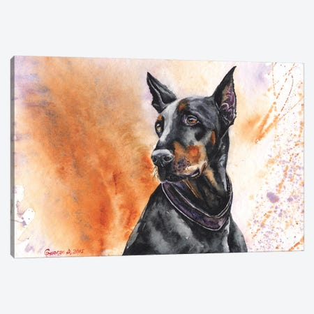 Doberman Canvas Print #GDY51} by George Dyachenko Canvas Art