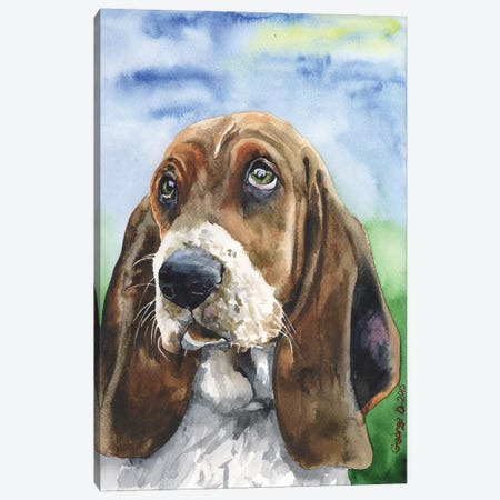 Basset III Canvas Print #GDY5} by George Dyachenko Canvas Art Print
