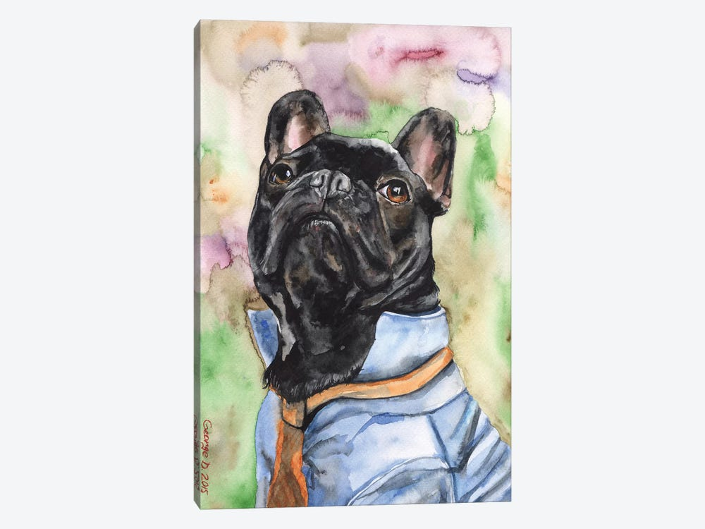 Fancy French Bulldog by George Dyachenko 1-piece Canvas Art Print