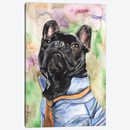 Fancy French Bulldog Canvas Print #GDY67} by George Dyachenko Canvas Artwork