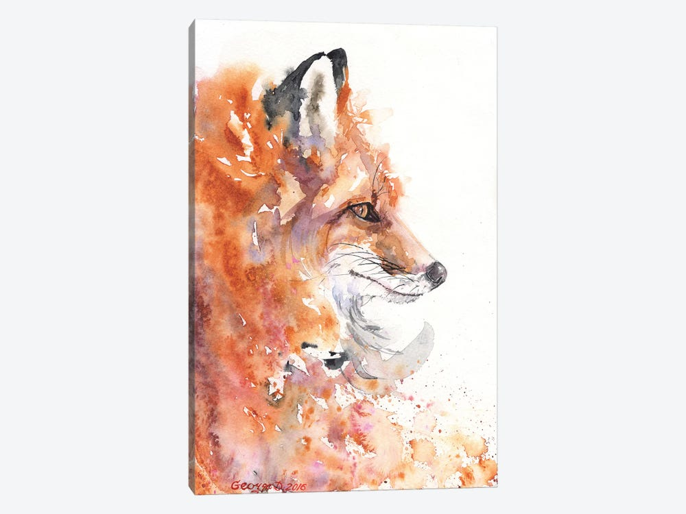 Fire Fox by George Dyachenko 1-piece Canvas Art Print