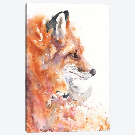 Fire Fox Canvas Print #GDY69} by George Dyachenko Canvas Art Print
