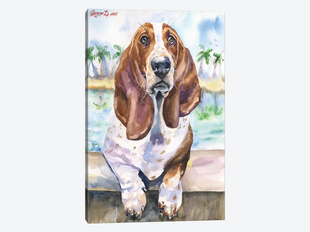 Basset IV by George Dyachenko 1-piece Canvas Print