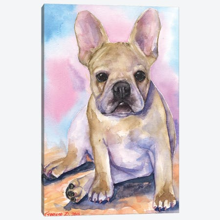 French Bulldog Puppy I Canvas Print #GDY71} by George Dyachenko Canvas Art