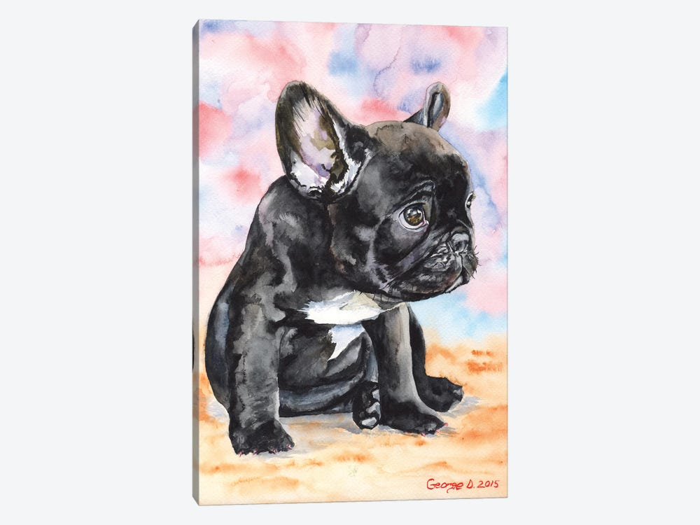 French Bulldog Puppy II 1-piece Canvas Print