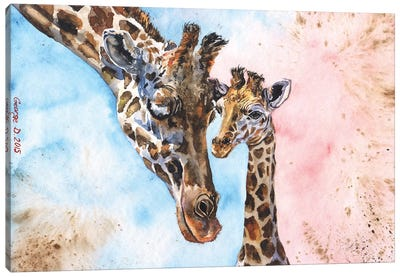 Giraffe Family I Canvas Art Print