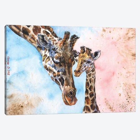 Giraffe Family I Canvas Print #GDY76} by George Dyachenko Canvas Print