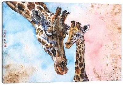 Giraffe Family I Canvas Art Print
