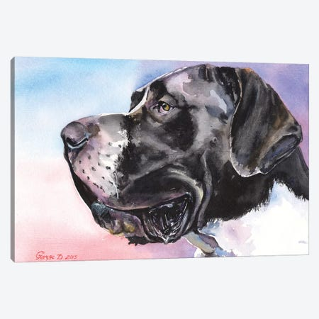 Great Dane II Canvas Print #GDY85} by George Dyachenko Canvas Artwork