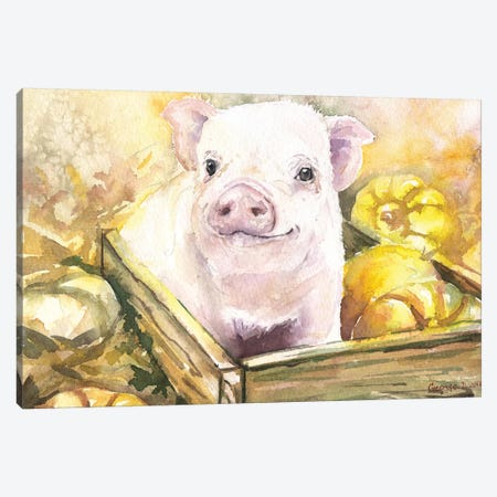 Happy Piggy III Canvas Print #GDY93} by George Dyachenko Canvas Artwork