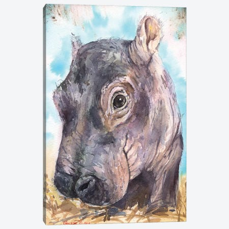 Hippo Baby II Canvas Print #GDY96} by George Dyachenko Canvas Art Print
