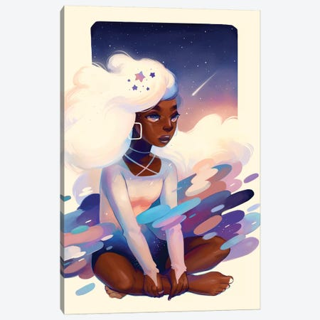 Comet Canvas Print #GEB11} by Geneva B Canvas Artwork