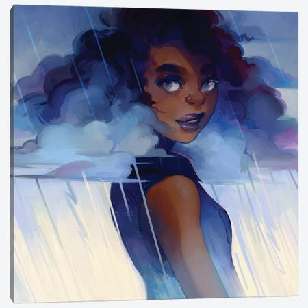 Looks Like Rain Canvas Print #GEB26} by Geneva B Canvas Wall Art