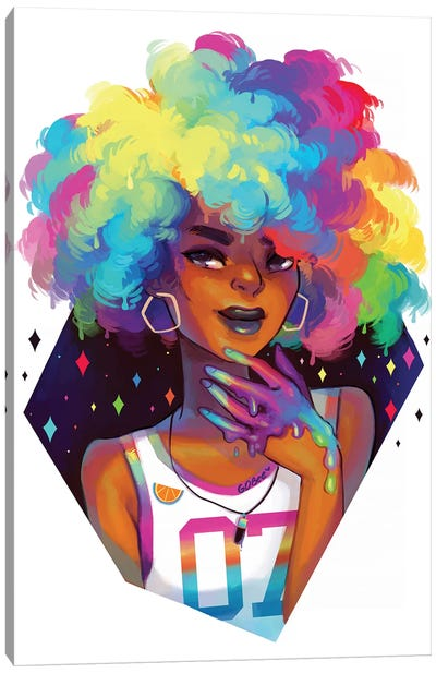 Rainbow Hair Canvas Art Print